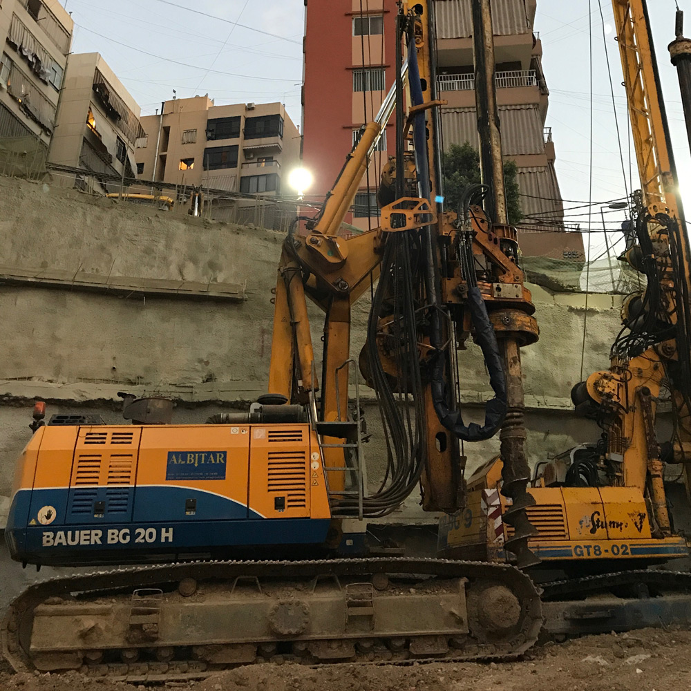 Albitar Foundations - Geotechnical - Engineering - Shoring - Excavation - Lebanon - Projects